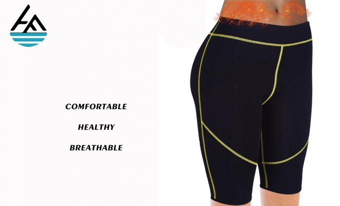 Neoprene Workout Pants High Waist , Sporting Womens Thermo Shaper Pants