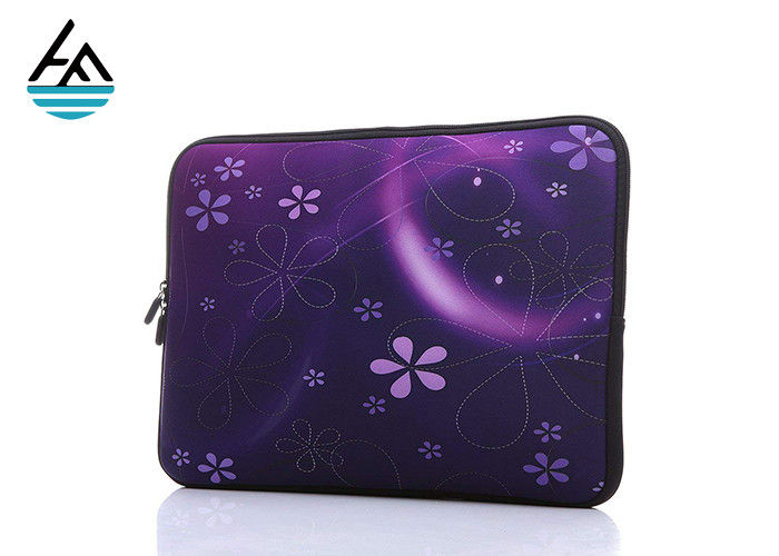 Beautiful Pattern Durable Neoprene Laptop Carrying Case With Hidden Handle
