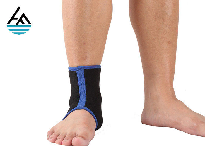 Soft Neoprene Ankle Wrap / Compression Foot And Ankle Brace For Running