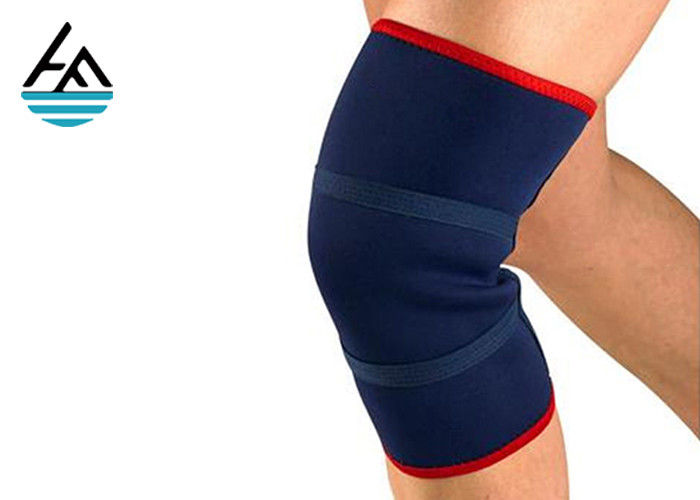 Weightlifting 7mm Neoprene Knee Sleeves , Powerlifting Knee Support For Squats