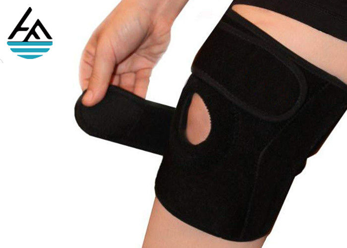 Unisex Powerlifting Knee Sleeves , Knee Compression Sleeve Running With Holes