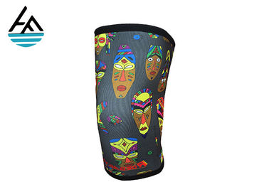 China Gray Pattern 7 Neoprene Knee Sleeve , Waterproof Neoprene Knee Cap factory