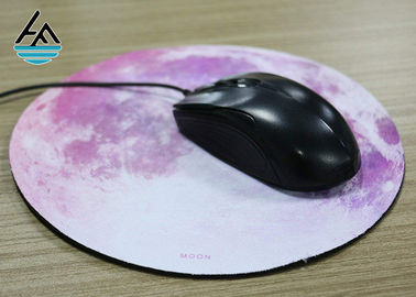 China Cool Printed Round Mouse Pad  , Thin Mouse Mat Stitched Frame 2-5 mm Thickness factory