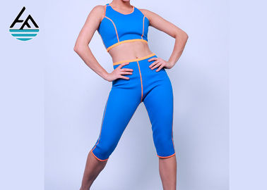 Blue Neoprene Slimming Suits Sauna Suit Weight Loss Tank Top Shirt Short Pants