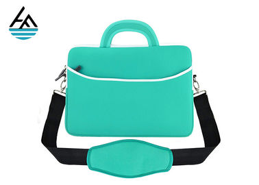 China Custom Waterproof Neoprene Laptop Bag With Shoulder Strap Smooth Zipper factory