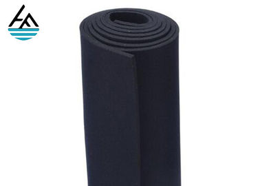 Smooth Neoprene Fabric Sheets , Black Neoprene Rubber Sheet With Nylon Fabric