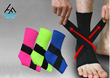 Waterproof Black Elastic Ankle Support With Steel Plate 100% Nylon Hook
