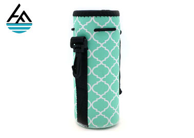 China Colorful 4 Mm Insulated  Bottle With Strap Single Wine Bottle Carrier factory